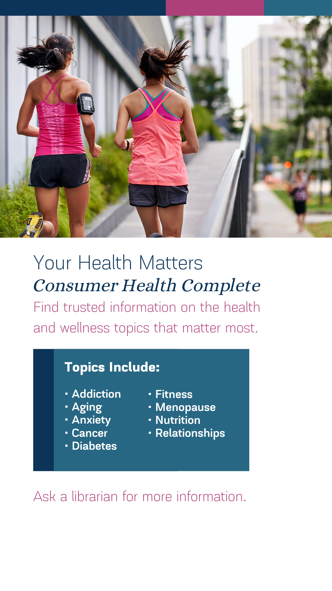 Image promoting Concumer Health Complete for Instagram Stories