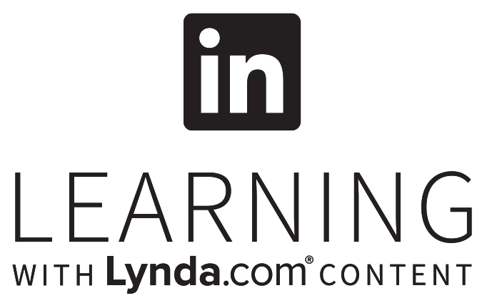 stacked Black transparent logo for LinkedIn Learning