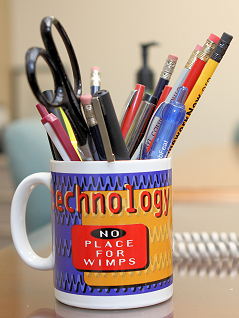 Dilbert mug with pencils
